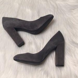 Jessica Simpson Gray Suede Block Heels Size 7.5